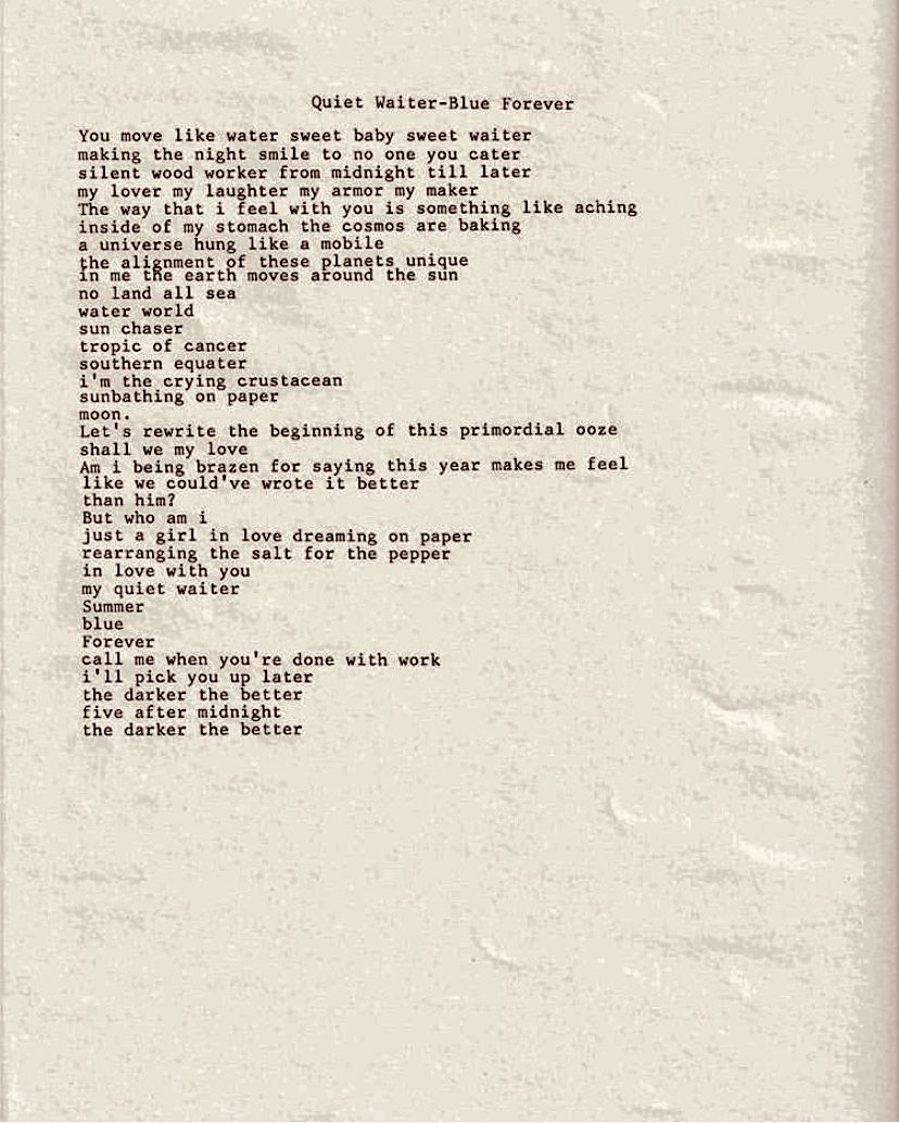 From Lana Del Rey S Instagram Possibly A Page From Her Upcoming Poetry Book Called Violet Bent Backwards Ove Poetry Inspiration Pretty Words Backwards Quotes