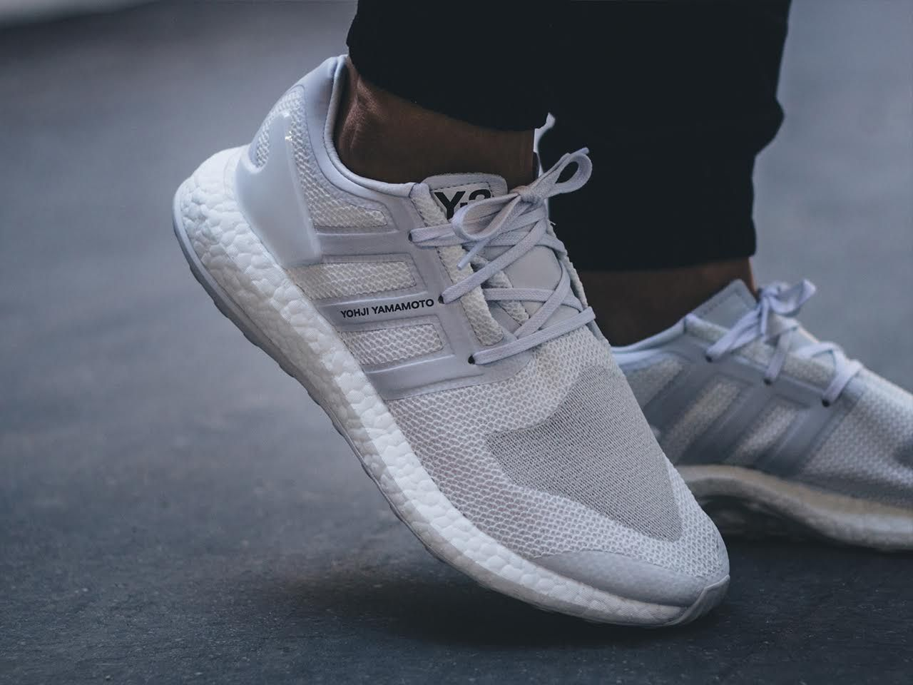 62c58b79646a On-Feet Images Of The Upcoming adidas Y-3 Pure Boost Triple White •  KicksOnFire.com