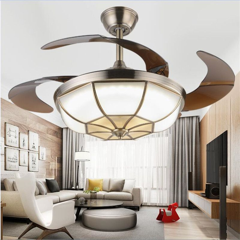The dimming control LED 42inch 108cm Ceiling Fan Bronze for LED