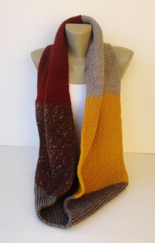 Dr Who Scarf Style Infinity Scarf Chunky Knit Scarf Men Scarf