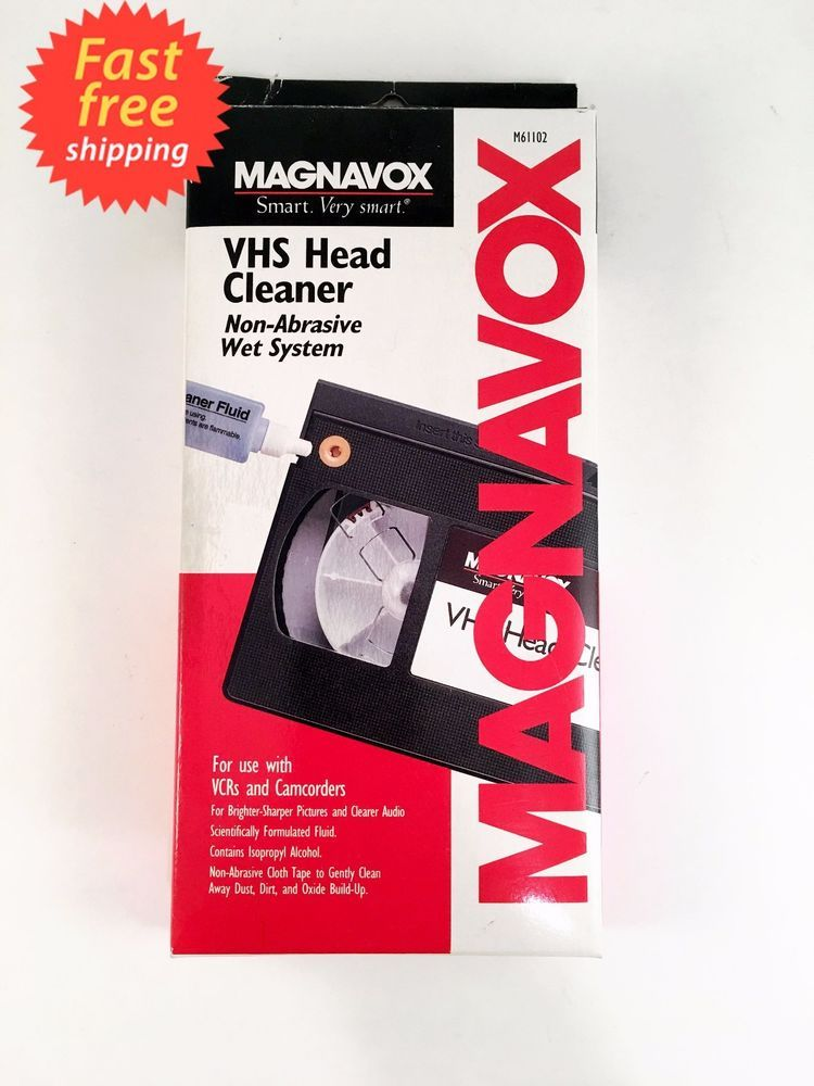 Magnavox VHS VCR Head Cleaner Non-Abrasive Wet System M61102