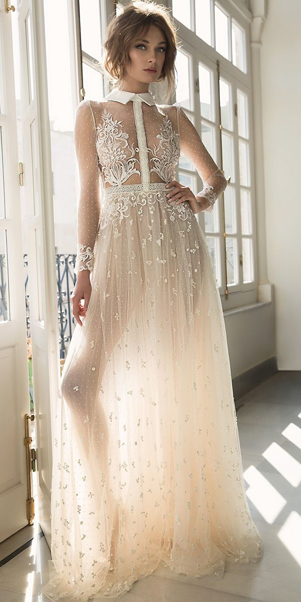 27 unique hot sexy wedding dresses dress ideas for Long sleeve turtleneck wedding dress