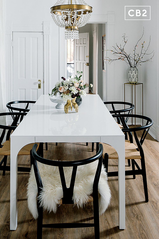 Aqua Virgo Large White Dining Table Reviews Cb2 White Dining Room Table White Dining Table Dining Room Contemporary