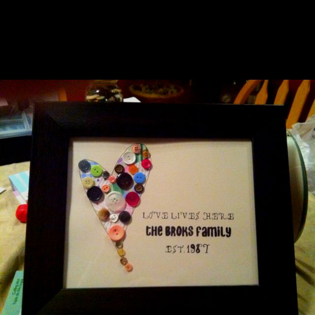 One Pinner Said They Made For My Parents 25th Wedding Anniversary Cute Diy Gifts Crafty Gifts Anniversay Gifts