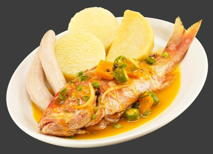 Jamaican steamed fish with yams and bananas i live where for Jamaican steam fish recipe