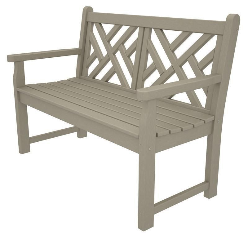 Enjoyable Polywood Cdb48Sa Chippendale 48 Bench In Sand In 2019 Pabps2019 Chair Design Images Pabps2019Com