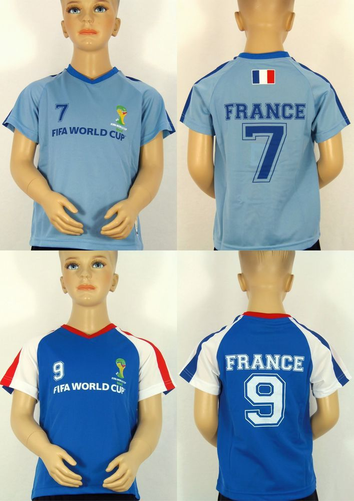 FIFA WM 2014 Brasil Trikot France T-Shirt Gr.92/98,104/110,116/122,128/134