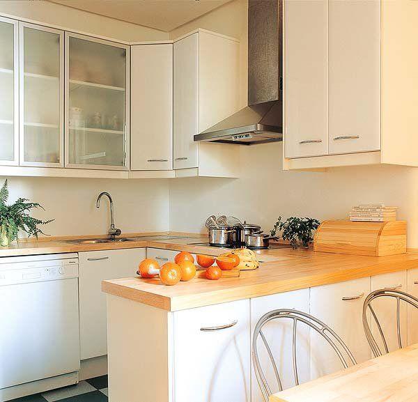 Cocinas peque as con planos ideas para kitchens and for Cocinas modernas para casas pequenas