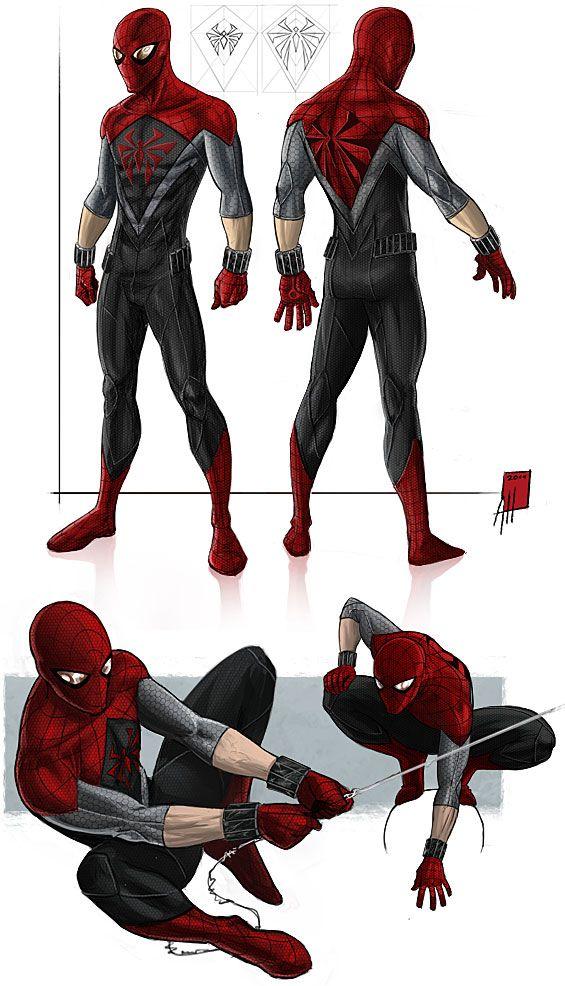 Alternate Spider-Man Darker than original suit layout  sc 1 st  Pinterest & Imagine Spidey in One of These Fan Designed Costumes! | Pinterest ...