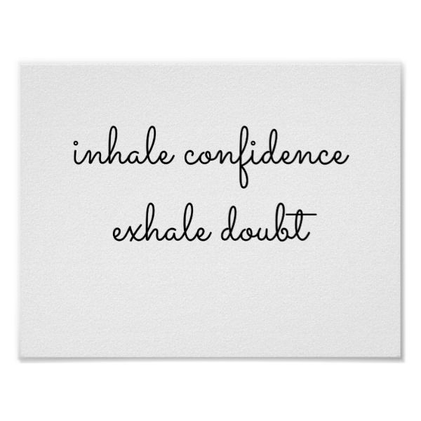 inhale exhale poster | Zazzle.com