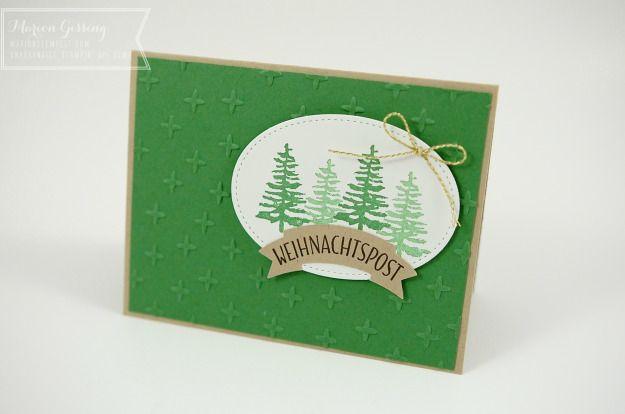 Stampin' Up, Weihnachtskarte, Gruesse vom Weihnachtsmann, Gartengruen