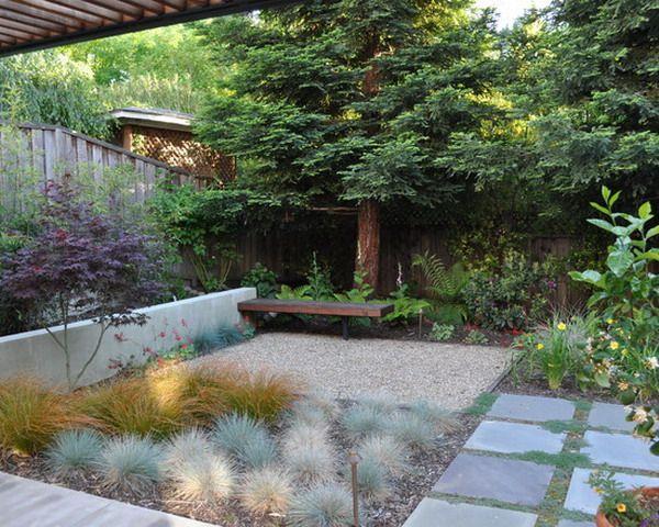 Giant Pine Tree Garden Patio Design