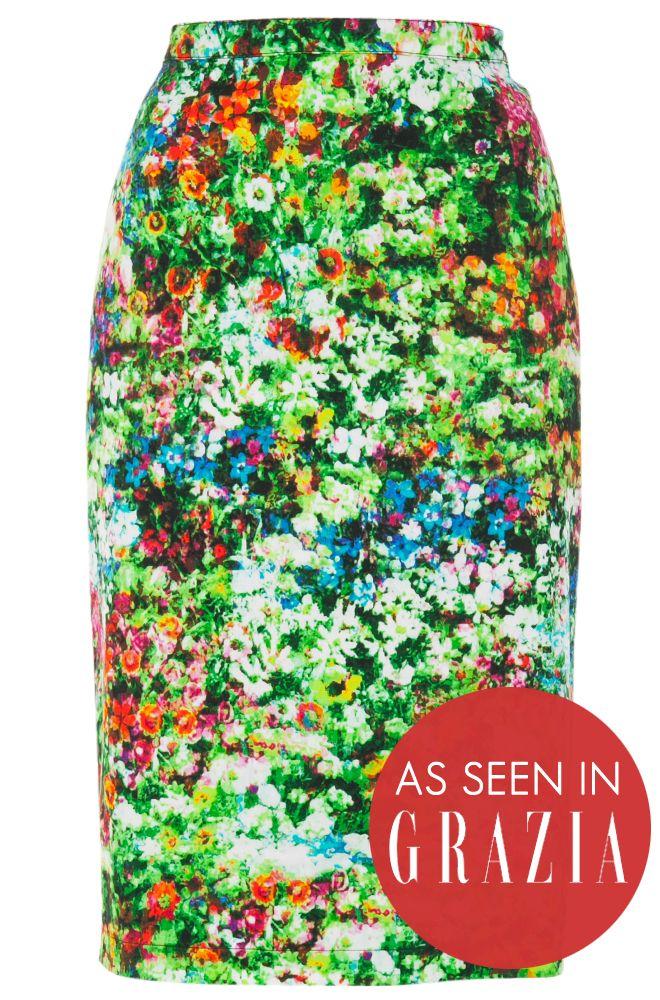 7e81a7200 Louche Larue Diigital Print Pencil Skirt £39 | fashion I | Printed ...