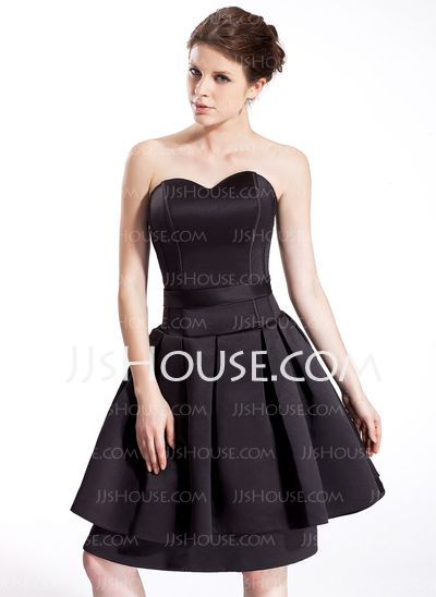 Homecoming Dresses - $108.99 - A-Line/Princess Sweetheart Knee-Length Satin Homecoming Dress (022026275) http://jjshouse.com/A-Line-Princess-Sweetheart-Knee-Length-Satin-Homecoming-Dress-022026275-g26275
