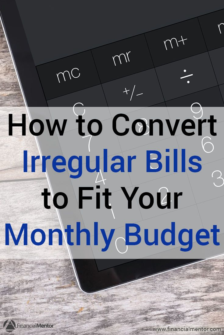Budget Calculator Converts Irregular Payments To Monthly Life