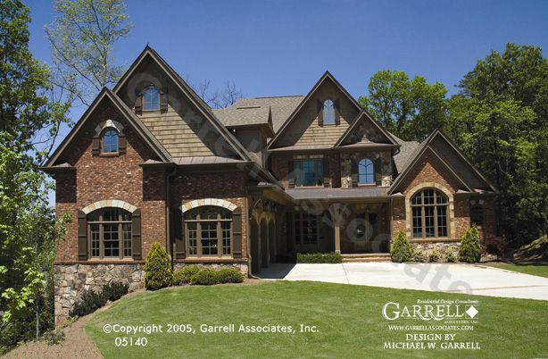 Garrell associates inc carolmont manor house plan 05140 for Luxury brick house plans