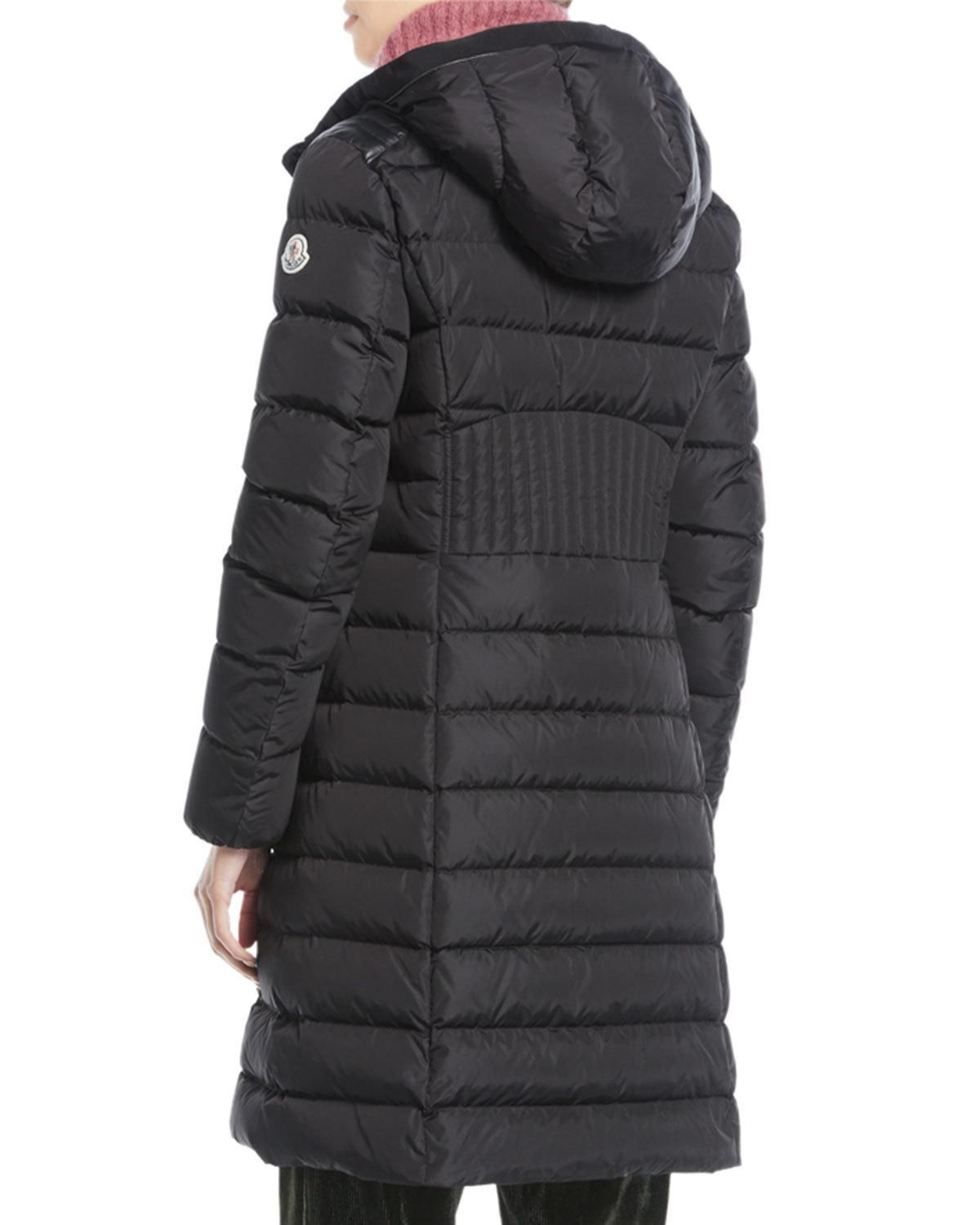 4ca504046 Taleve Zip-Front Hooded Mid-Length Quilted Puffer Jacket | Products ...
