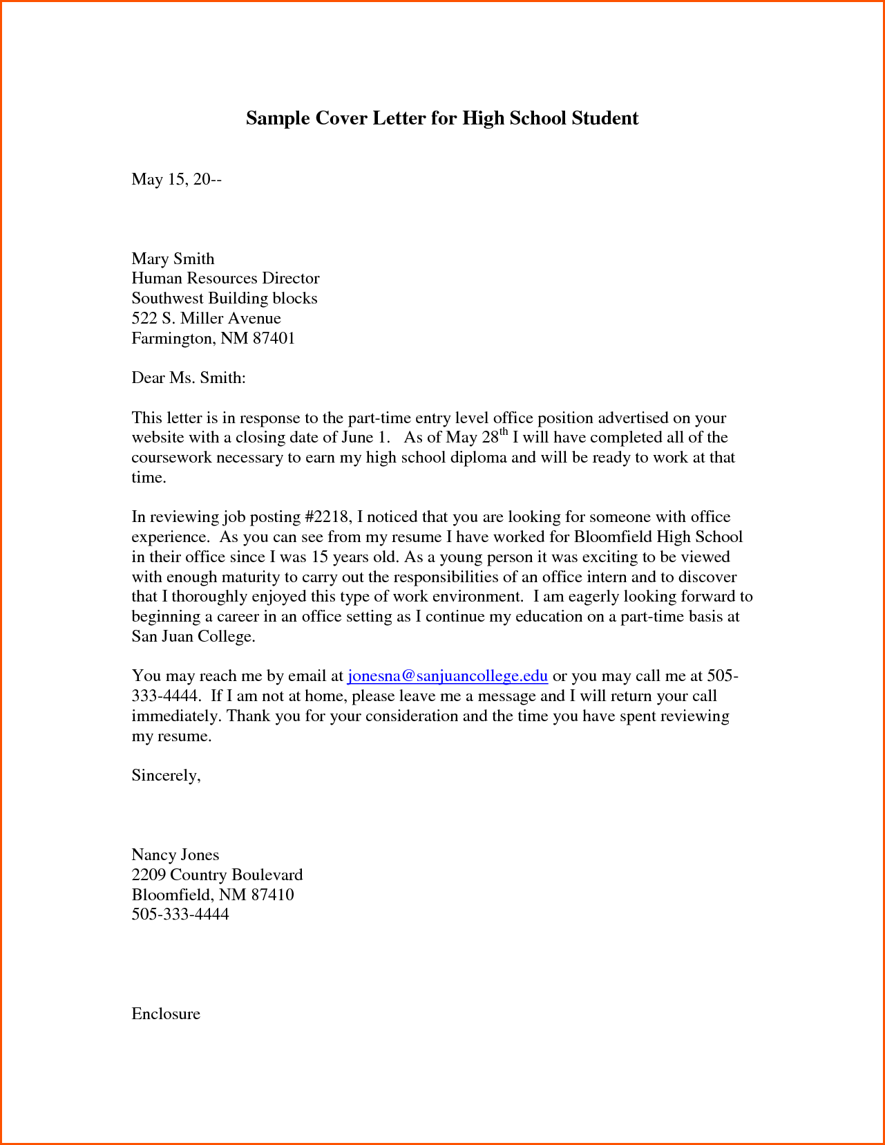 College application report writing cover letter