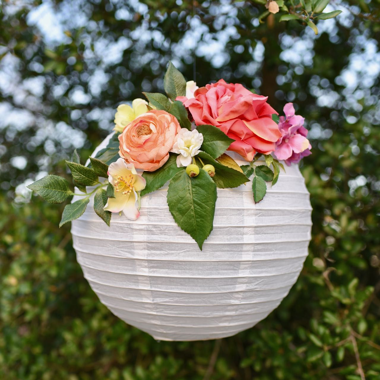 Diy Flower Paper Lanterns Tutorial Paper Lantern Decor Paper