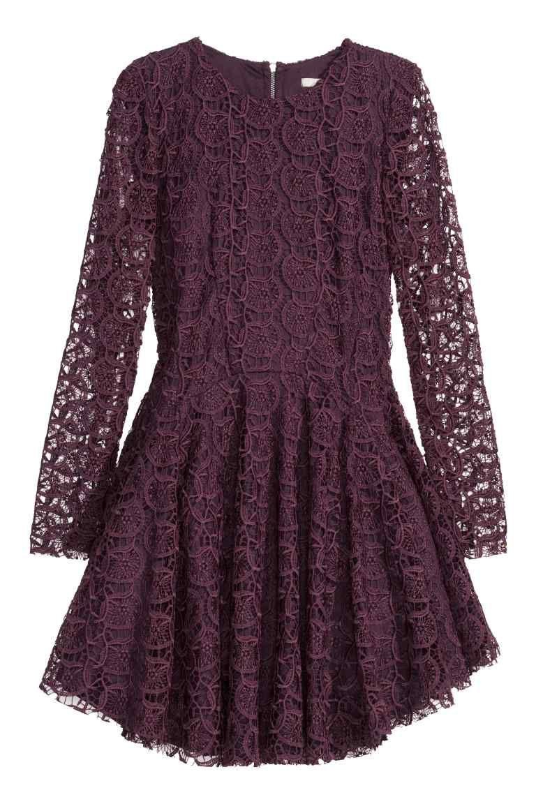 Vestido de encaje circular   H&M   Moda actual   Pinterest   Fashion