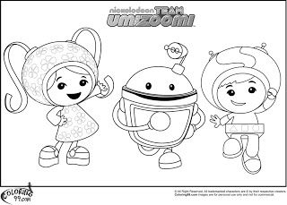 Team Umizoomi Coloring Pages colouring drawings Pinterest