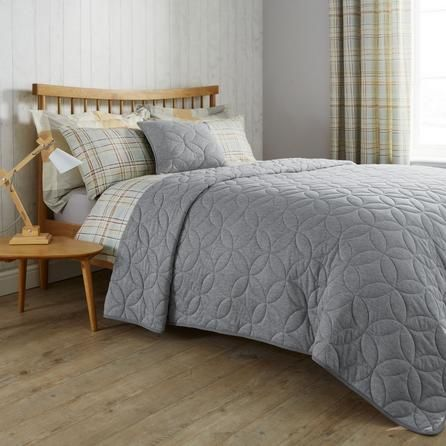 Elements Grey Quilted Bedspread Bed Spreads Quilted Bed Throws