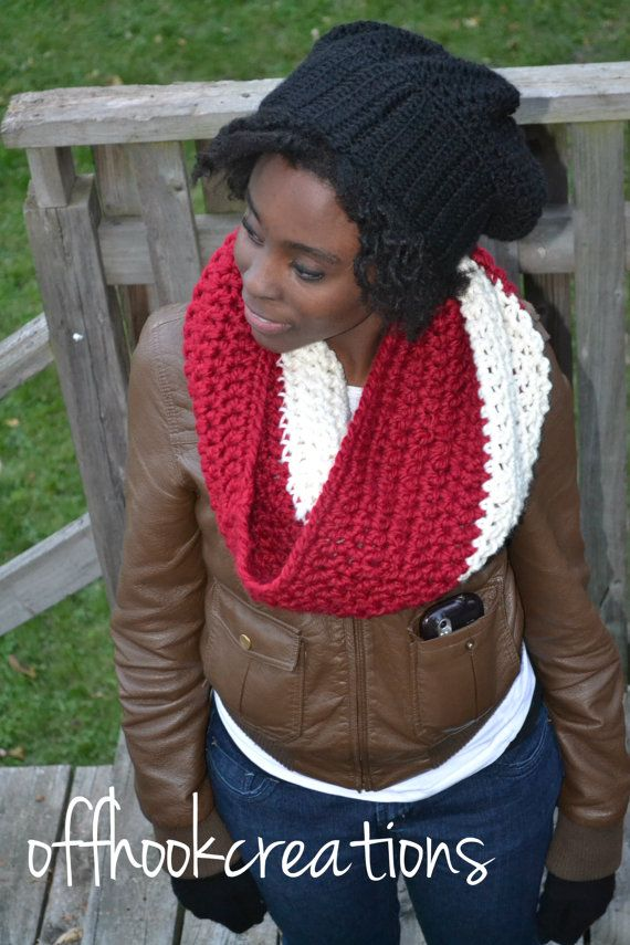 Chunky cowl or neckwarmer by OFFHOOKCREATIONS on Etsy,