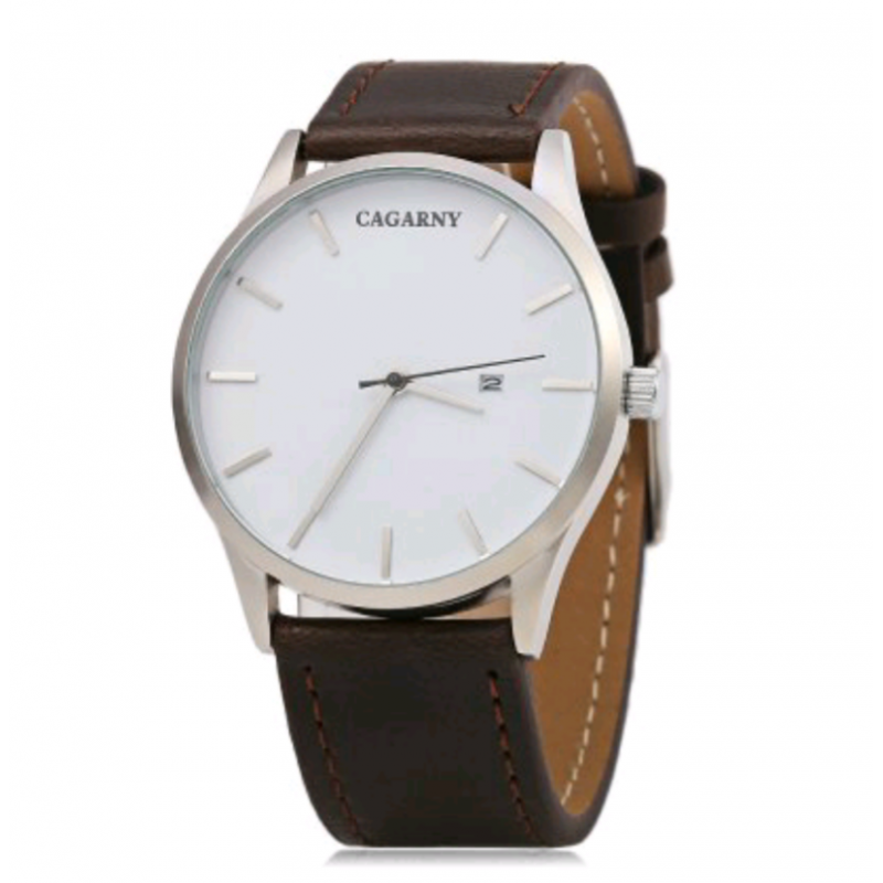 ساعة رجالية Cagarny Leather Accessories Watches