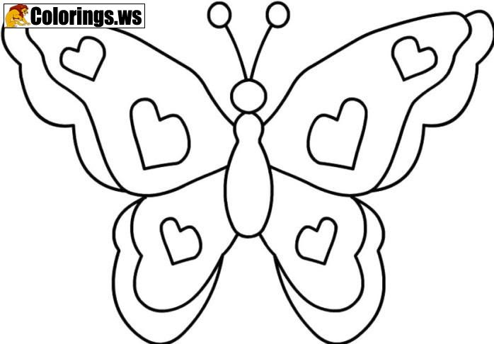 65 Simple Butterfly Coloring Pages Printable For Free