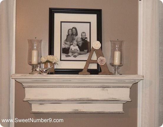 Distressed Mantel Shelf Home Decor Decor Knock Off Decor