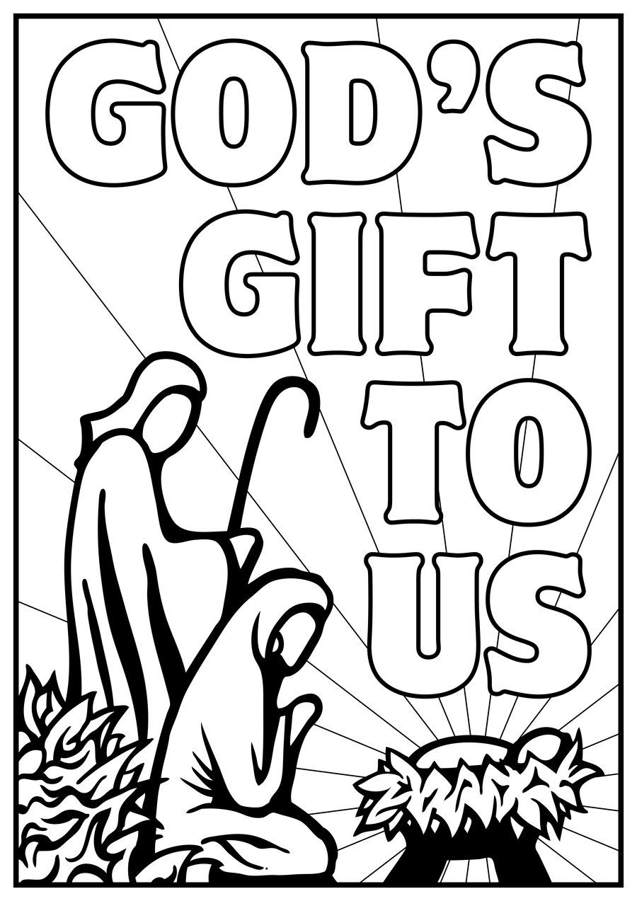 kids color pages manger scene free kids nativity