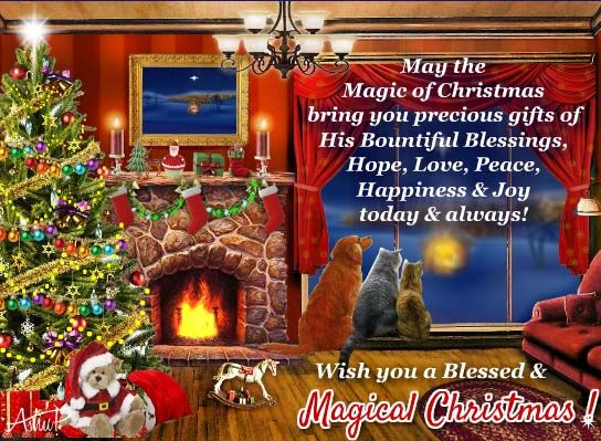 a magical card with true spirit of christmas and a warm message to
