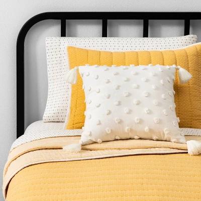Splash Inspirational Print Yellow Quilted Coverlet /& Pillow Shams Set