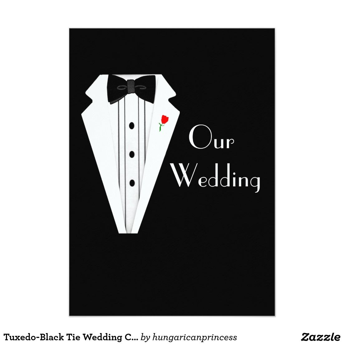 "tuxedoblack tie wedding custom template "" x "" invitation card, invitation samples"