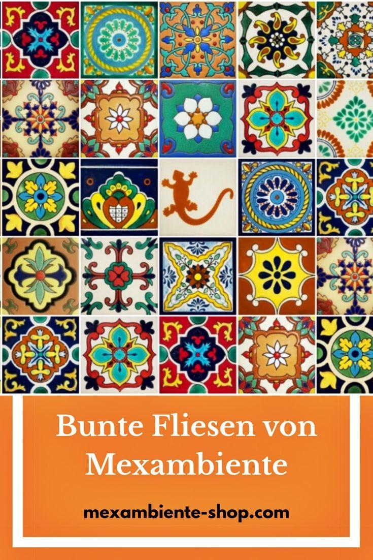 Bunte Fliesen Aus Mexiko Handbemalte Bunte Azulejos Aus Keramik In