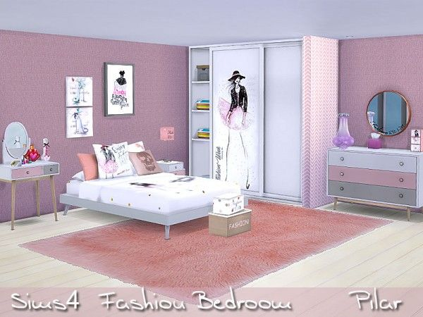 SimControl Fashion Bedroom by Pilar • Sims 4 Downloads