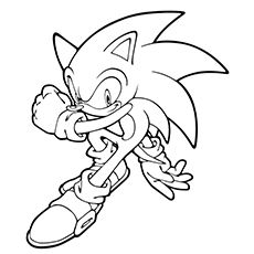 Print Coloring Image Sonic The HedgehogColoring PagesFree