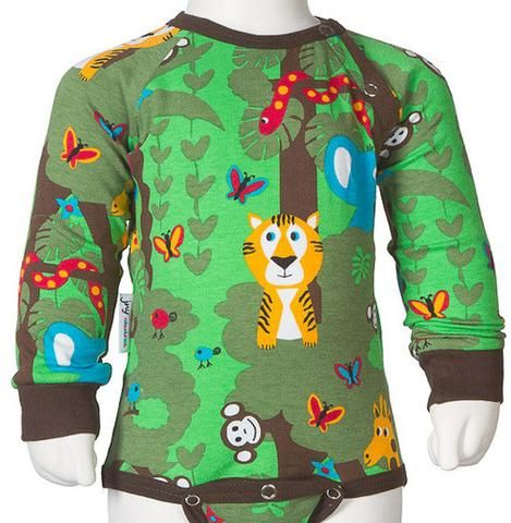 f8f88e49ccfc95 JNY colurful kids organic cotton baby bodysuit JUNGLE - funky little people…
