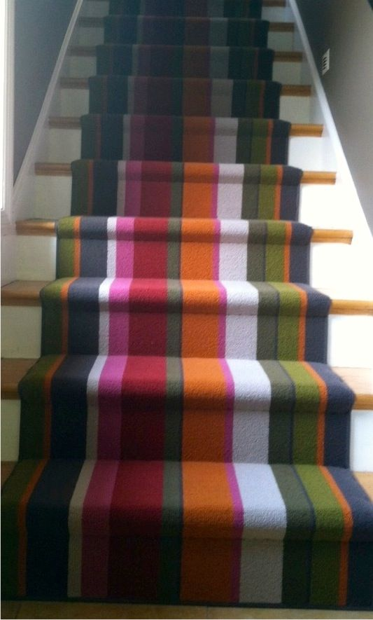 Designed In Italy Made For Your Home Striped Stair Runner