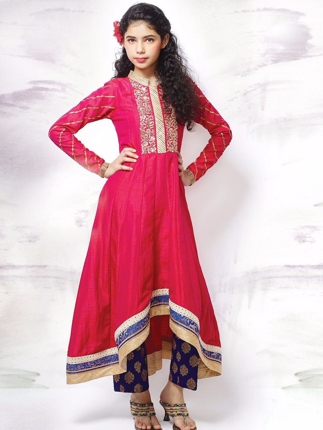 14e61f67c195 Stylish Anarkali Frocks Designs For Baby Girls 2017