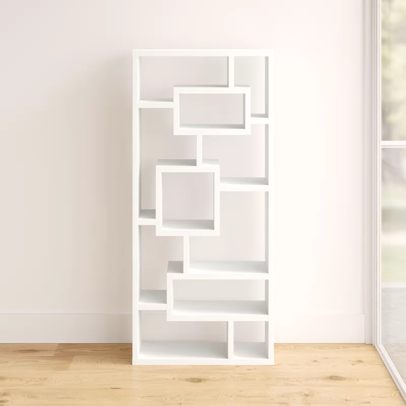 Mercury Row Cleisthenes Geometric Bookcase Reviews Wayfair In 2020 Bookcase Deep Bookcase Etagere Bookcase