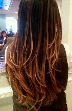 straight hair with caramel ombre - Google Search | ombre ...
