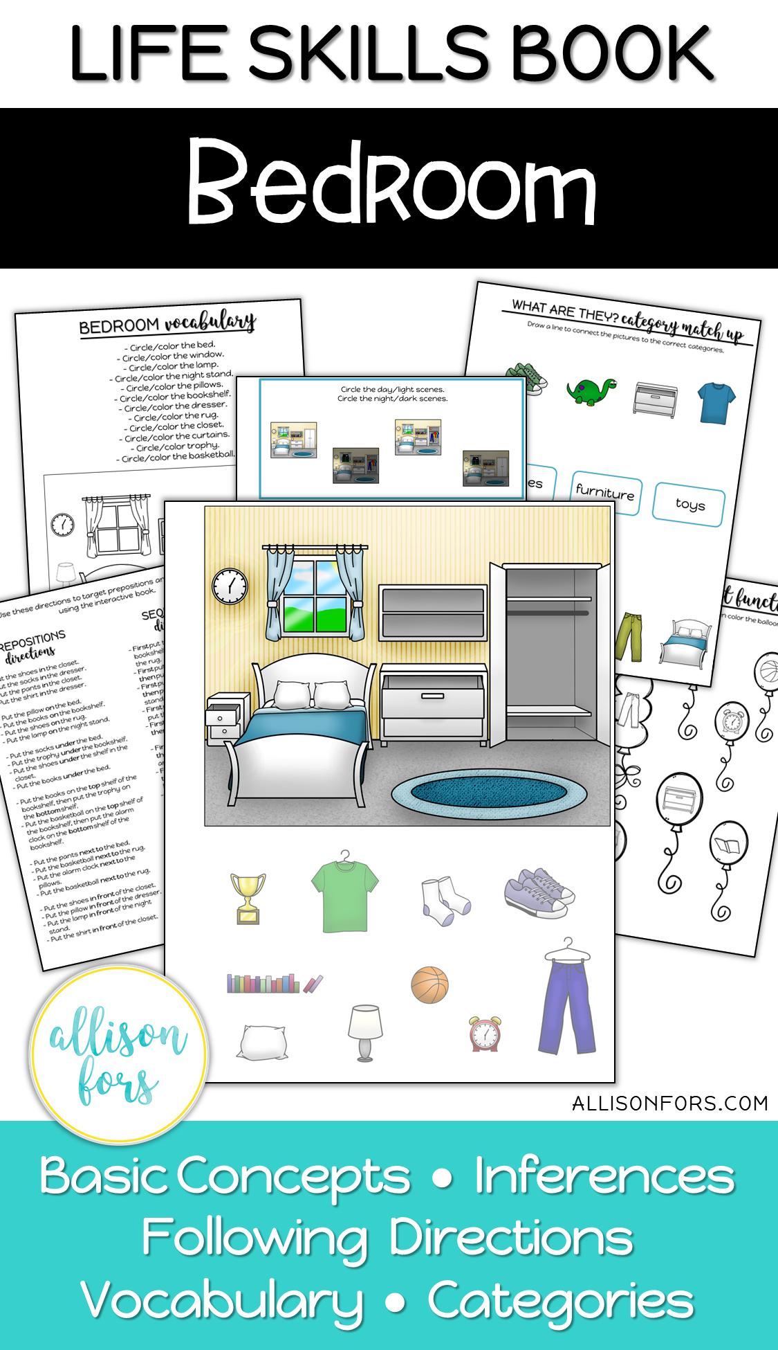 Life Skills Interactive Book Bedroom