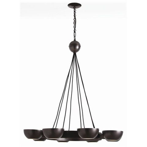 Arteriors Home Sorrel 8L Adjustable Iron/Glass Chandelier - Arteriors Home 89621 #Arteriors Chandelier