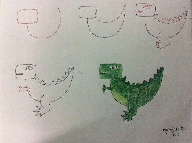 Dinazor Okul öncesi Aktiviteler Pinterest Drawings Easy