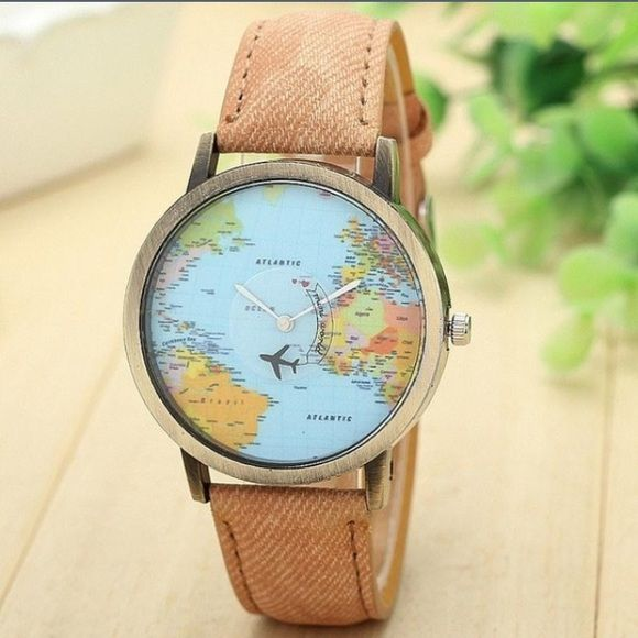 Tan global watch Tan watch! I never wear it and someone can do with it more than I currently am! Accessories Watches