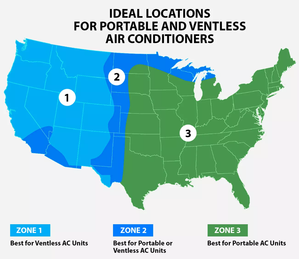 Best Portable AC Units & Ventless Air Conditioners (Indoor