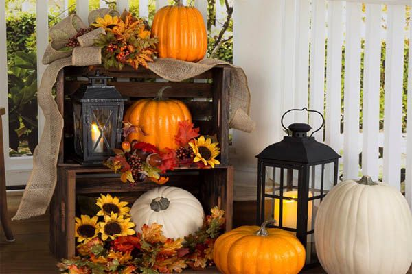 Affordable Cheap Diy Outdoor Fall Decorations Ideas