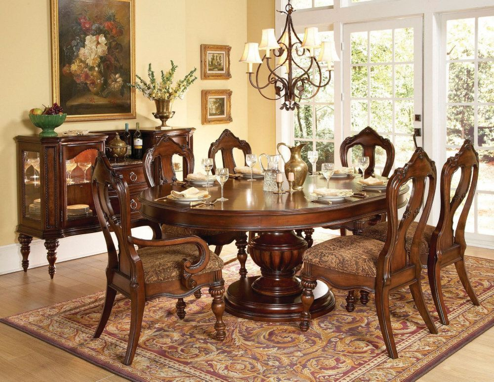 Buy Homelegance Prenzo 7 Piece 60x60 Dining Room Set In Warm Brown On Sale Online