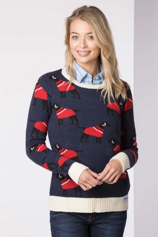Ladies Christmas Jumper Country Xmas Sweater Rydale UK